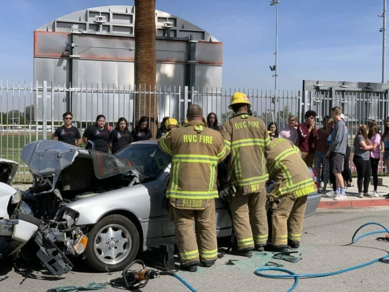 Students Witness Mock Alcohol-Fueled Collision