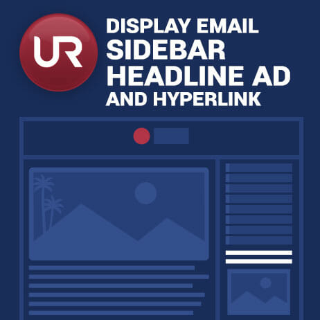 Display Email Sidebar Headline And Hyperlink Ad