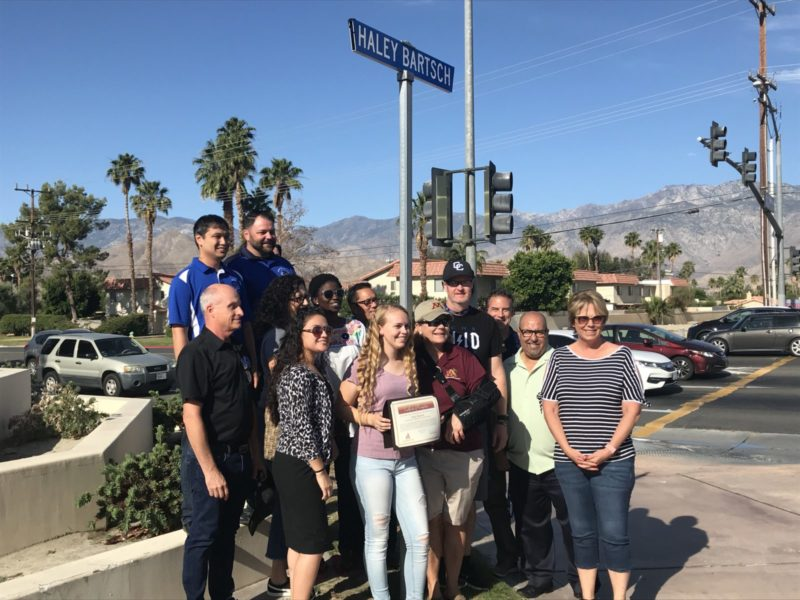 Street Signs Honor 2 Cathedral City Students