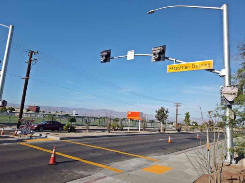 Pedestrian Crossing Systems Added on Dinah Shore