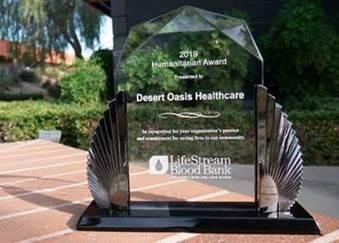 2019 Humanitarian-Award presented to Desert Oasis Healthcare