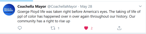 Coachella Mayor Speaks Up for George Floyd