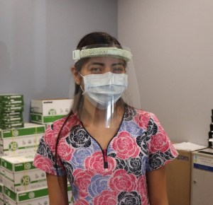 Face Shields Donated to Coachella Testing Site