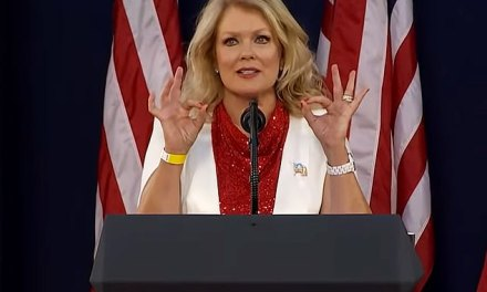 Mary Hart Under Fire for Sign at Trump Rally