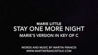 Stay One More Night – Marie Little!
