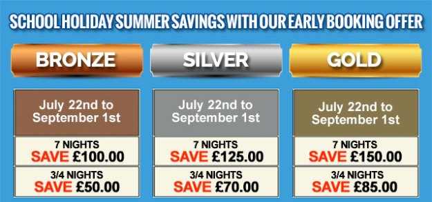 Park Holidays Summer Savings