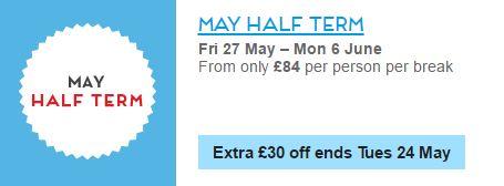 butlins half term offer