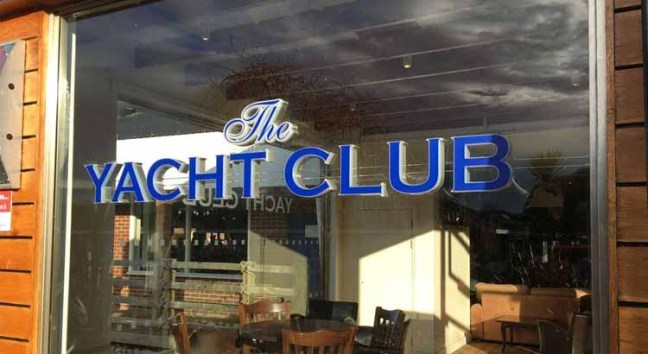 The Yacht Club restaurant.
