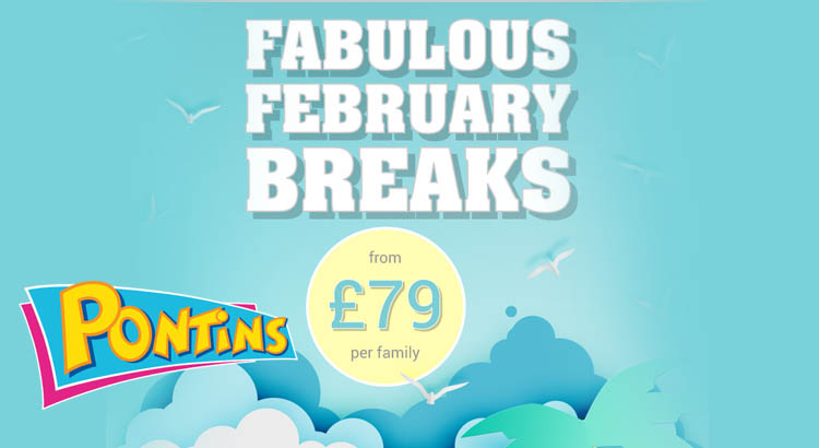 Cheap Pontins February Half Term Breaks from only £79 per Apartment