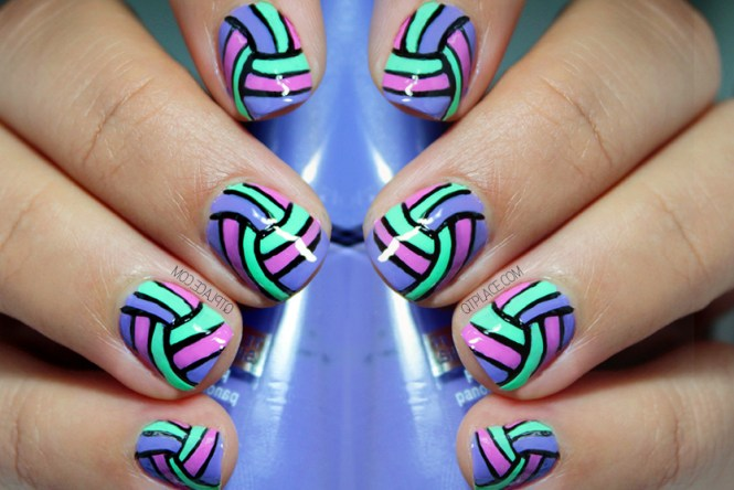 Simple Easy White Stripe On Pink Nail Art Step 4