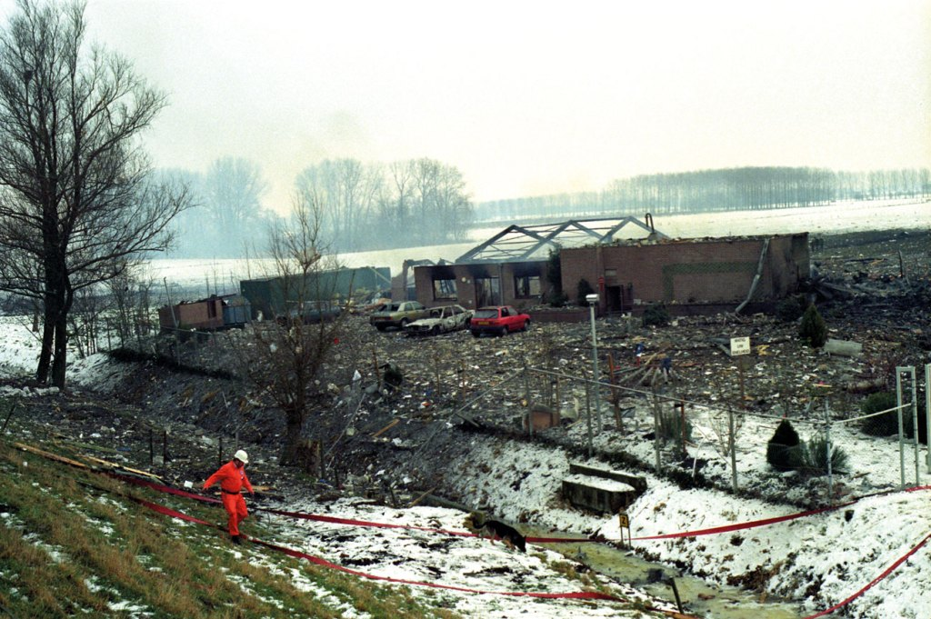 Disaster-area 1991 at Culemborg: unexpected explosion of fireworks, lessons could and should have been learned: 2 casualties. Image courtesy of Rob Jastrzebski