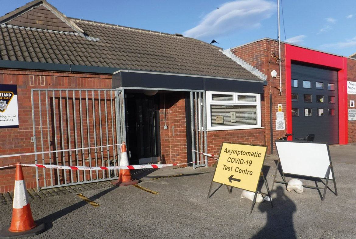 Loftus Community Fire Station opens as a Covid testing centre.