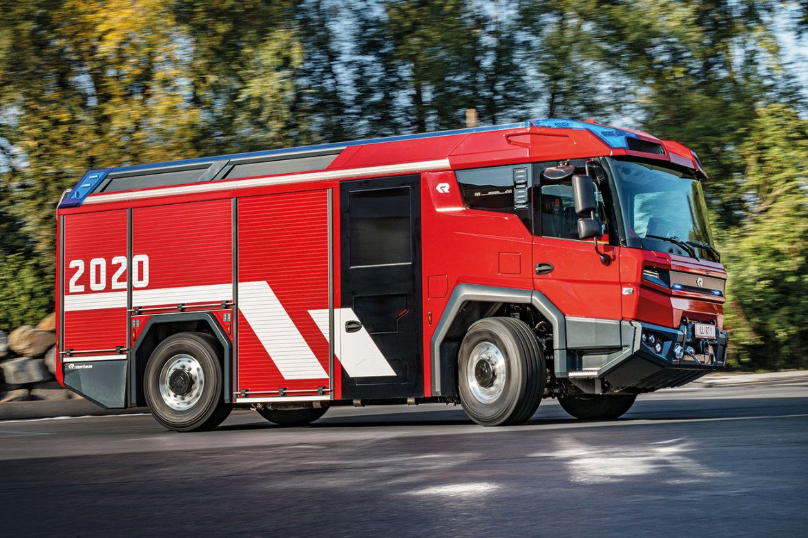 Without doubt the RT is the most modern emergency vehicle in the world. Not only is it a milestone for Rosenbauer, it is the benchmark for the future of the firefighting industry.