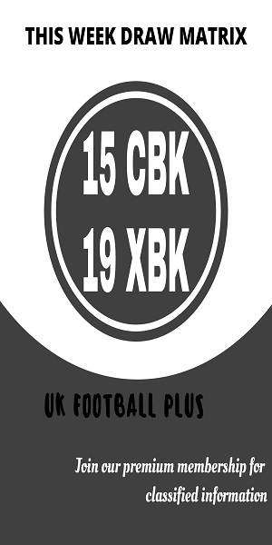 Week 32 football pools draw matrix