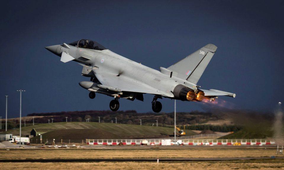 RAF Jet takes off