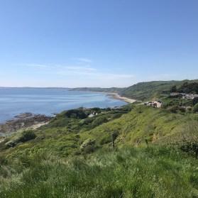 The coast below Osmington Mills, looking west.