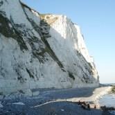 East - beach and cliffs