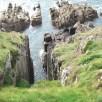 Gulley - cliff path