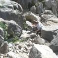 Limestone blocks and cliffs