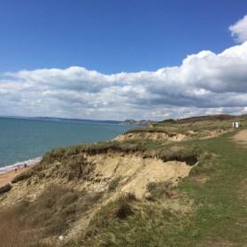 Cliffs at Cogden Beach, Dorset
