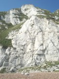 High chalk cliffs