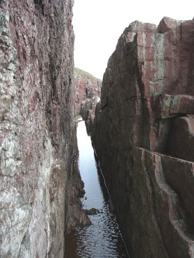 Different rates of erosion - cliff path