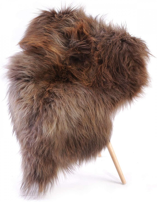 Icelandic sheepskin rug ideal for glamping
