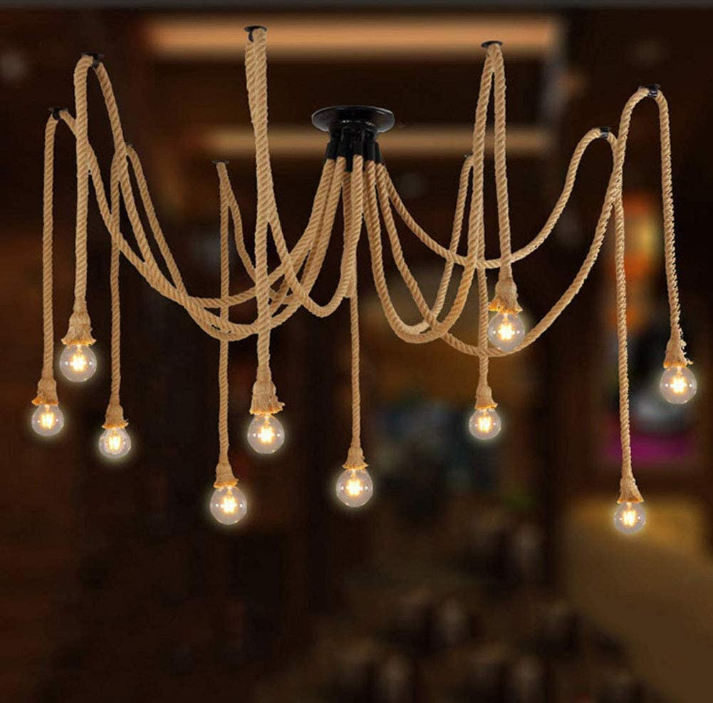Spider rope chandalier