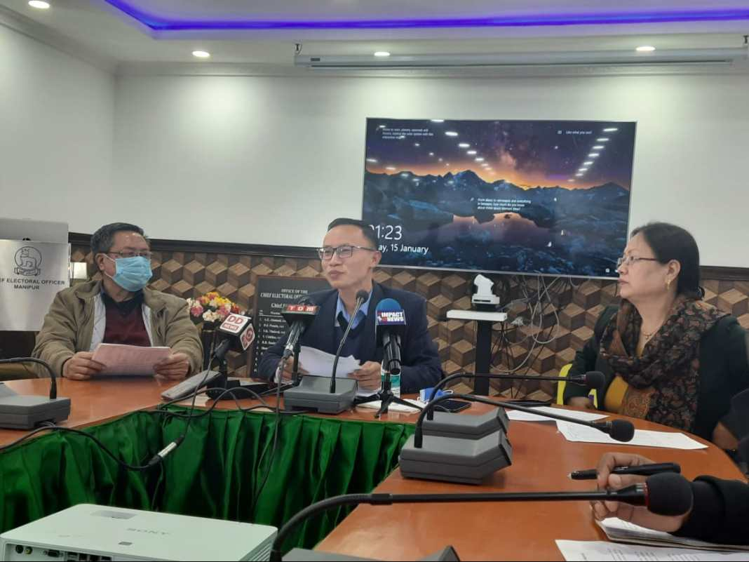 Press conference of joint CEO Manipur in Imphal on Friday 2