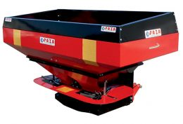 faza twin spinner fertilizer spreader with hydraulic remote