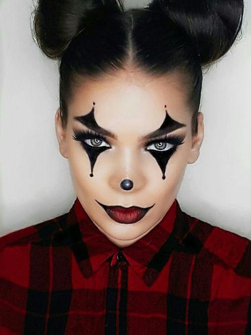 clown - Halloween sminkning steg för steg