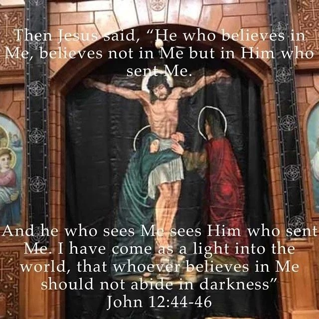 """""""As when the light enters into a dark home and casts away (Chases) its darkness and lightens it as well as when God's fear enters the man's heart it will cast away (chase) ignorance and learn him all the virtues and wisdoms."""" – St. Anthony the Great"""