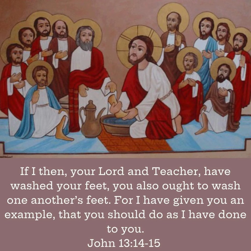 Covenant Thursday – The Gospel of The Liturgy of The Water   We remember that the way in which we commended to your attention the grandeur of this act of the Lord's was that in washing the feet of disciples who were already washed and clean the Lord instituted a sign to the end that on account of the human feelings that occupy us on earth however far we may have advanced in our apprehension of righteousness we might know that we are not exempt from sin; which He thereafter washes away by interce