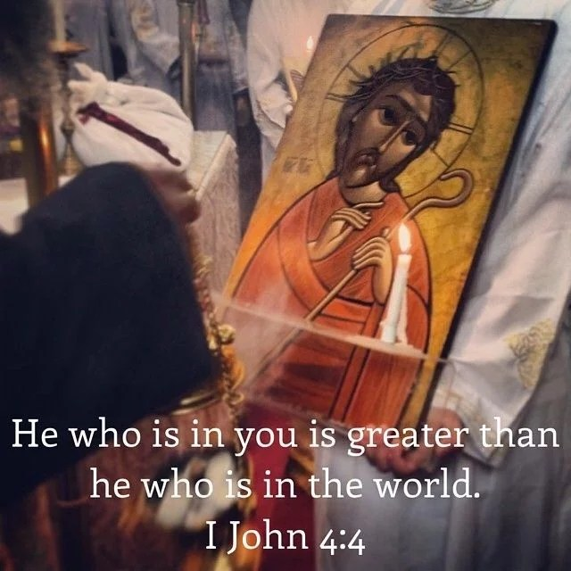 """""""And God's indwelling is this: to have God established in us by unceasing memory of him."""" – St. Basil the Great  #coptic #orthodox #greater #holy50 #world"""