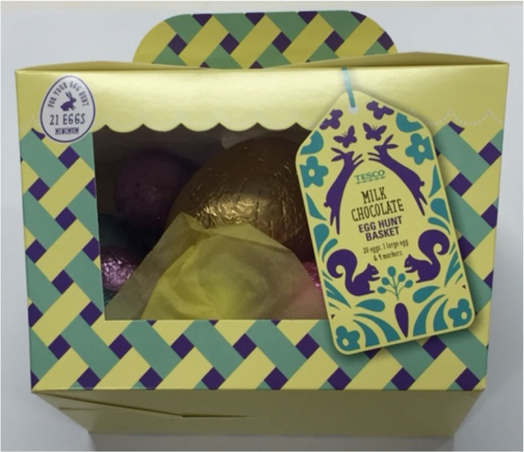 Tesco Easter egg hunt box
