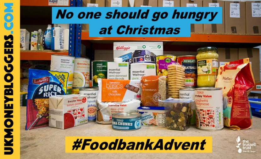 #FoodbankAdvent - no one should go hnugry at Christmas - a UK Money Blogger's campaign