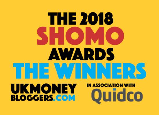 2018 SHOMO awards - UK Money Bloggers