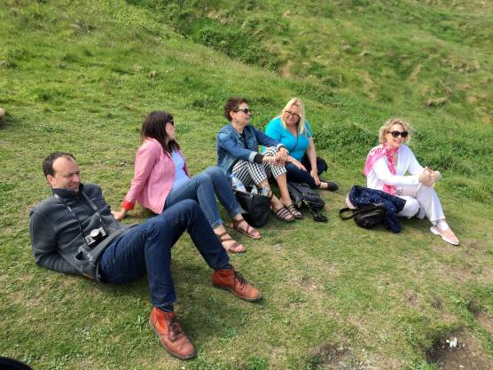 Relaxing at Carrick-A-Rede