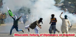 Miserable failure of Diplomacy on Kashmir