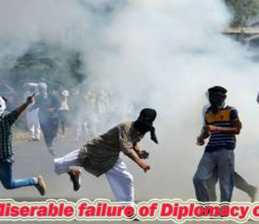 Miserable failure of Diplomacy on Kashmir
