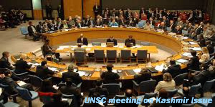 UNSC meeting on Kashmir Issue