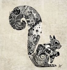 zentangle squirrel