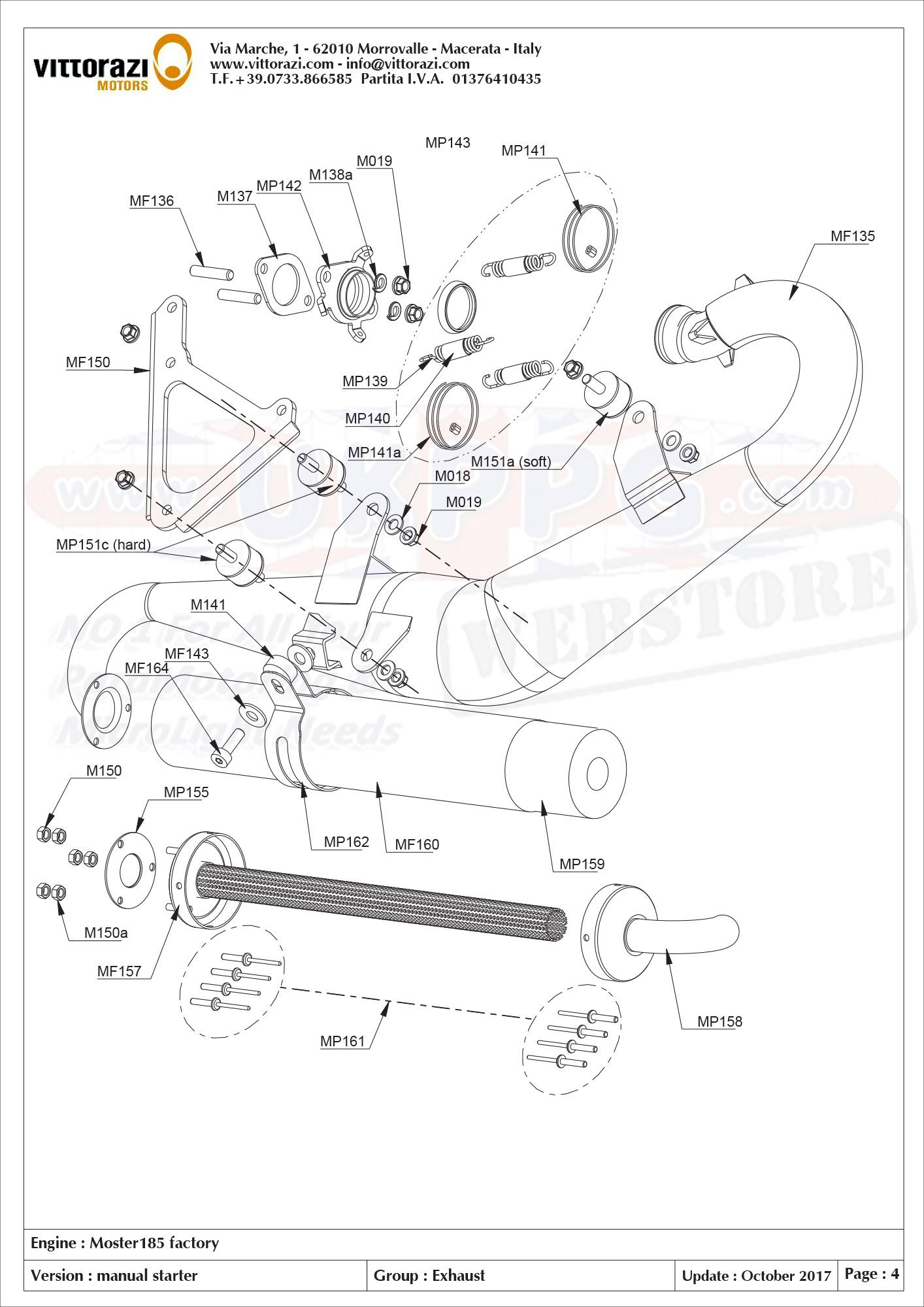 Moster 185 Factory Parts