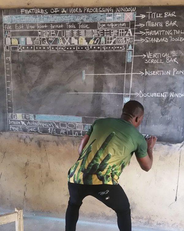 Інформатика без комп'ютера: у африканській школі вчитель малює скріншоти крейдою - 347619 3