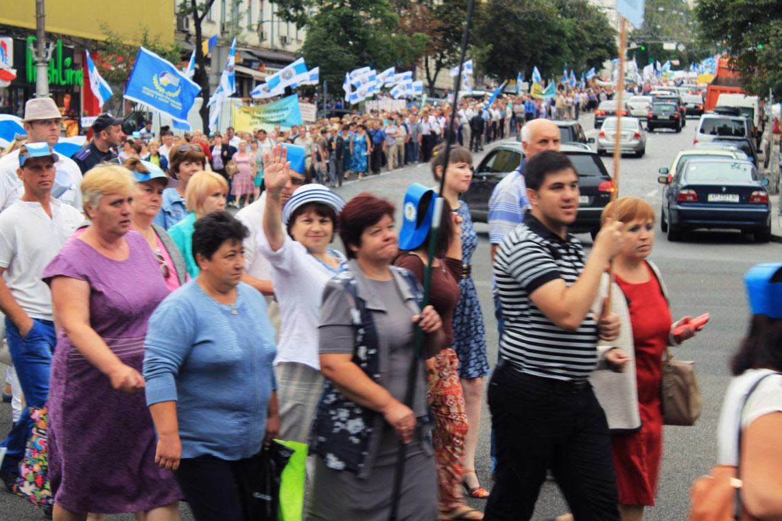 Протест профспілок 6 липня 2016