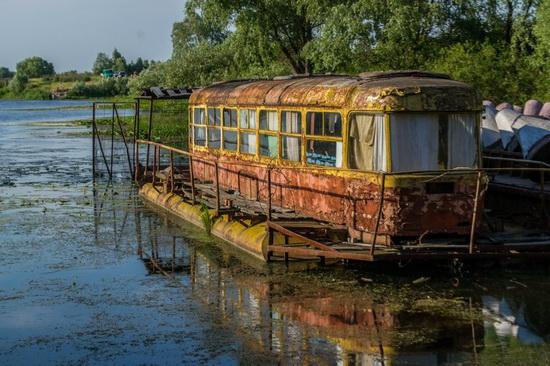Abandoned River Tram On The Desna River Ukraine Travel Blog