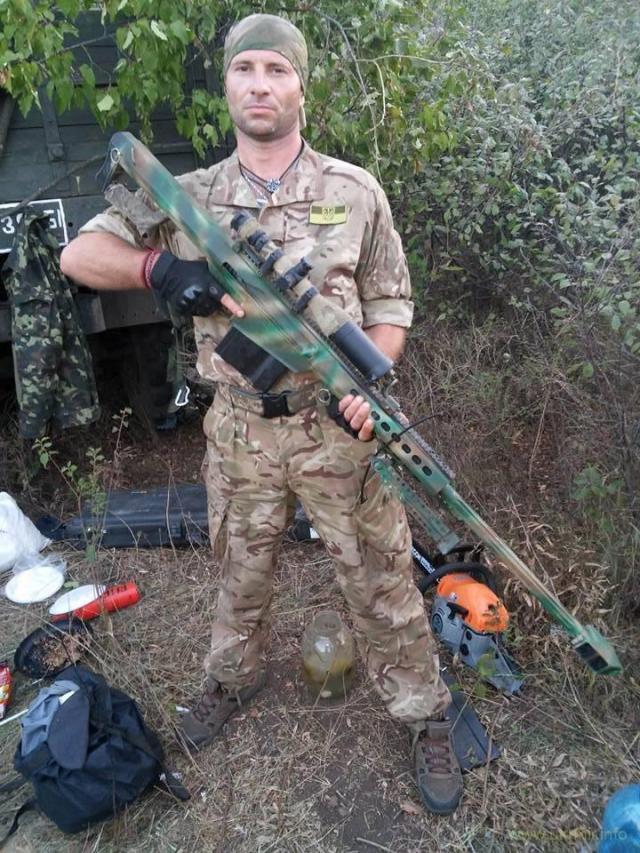 12,7-мм снайперская винтовка Barrett M82, Донбасс, 2016 г.