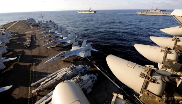 Атомные авианосцы США подошли вплотную к КНДР