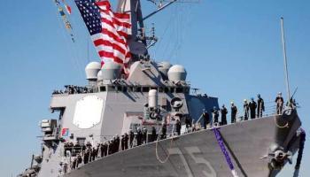 Американский ракетный эсминец Donald Cook идет в Черное море