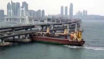Пьяный русский капитан сухогруза устроил две аварии в порту Кореи